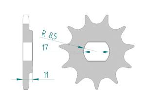 Kit trasmissione Alluminio FANTIC 125 TRIAL TX250
