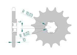 Kit trasmissione Acciaio HYOSUNG 125 CRUISE II 1997-1998 Rinforzata Xs-ring