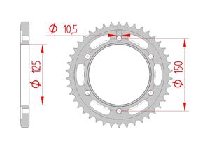 Kit trasmissione Acciaio KTM 1090 ADVENTURE 2017-2019