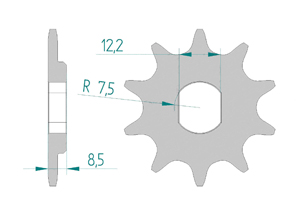Kit trasmissione Alluminio KTM 50 SX MINI 2012-2013