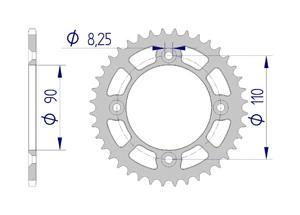 Kit trasmissione Alluminio KTM 50 SX MINI 2014-2018-2019