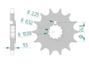Kit trasmissione Alluminio KTM SX 85 BW 2018-2019