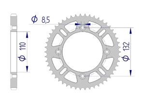 Kit trasmissione Alluminio KTM SX 85 SW 2018-2019