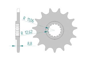 Kit trasmissione Alluminio KTM SX 250 2017-2019 Standard Xs-ring