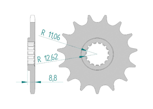 Kit trasmissione Alluminio KTM XC-F 350 2013-2015 Super Rinforzata Xs-ring