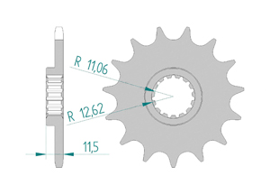 Kit trasmissione Alluminio KTM SX 620 LC4 1995-1998 Super Rinforzata Xs-ring