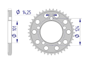 Kit trasmissione Alluminio KTM 990 SMT 2009-2011 Super Rinforzata Xs-ring