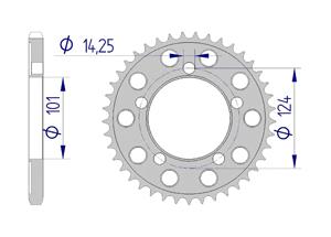 Kit trasmissione Alluminio KTM 990 SMT 2009-2011