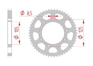 Kit trasmissione Acciaio RIEJU NAKED 125 LC 2013-2015