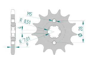 Kit trasmissione Acciaio RIEJU 125 CENTURY 2018 Rinforzata
