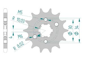 Kit trasmissione Acciaio RIEJU 125 MARATHON AC SM 2009-2011 Rinforzata Xs-ring