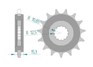 Kit trasmissione Acciaio OEM TRIUMPH 765 STREET TRIPLE 17-18 Extra rinforzato Xs-ring