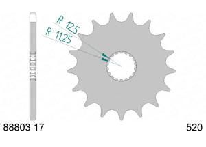 Kit trasmissione Acciaio TRIUMPH 900 STREET SCRAMBLER 17-18 Iper Rinforzata Xs-ring
