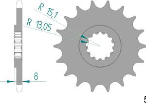 Kit trasmissione Acciaio TRIUMPH 900 SPEEDMASTER 2015-2017 Iper Rinforzata Xs-ring