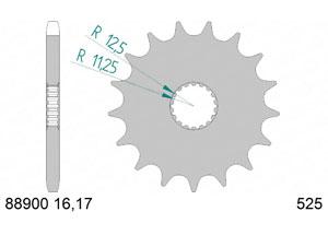 Kit trasmissione Acciaio TRIUMPH 1200 T120 BONNEVILLE 16-18