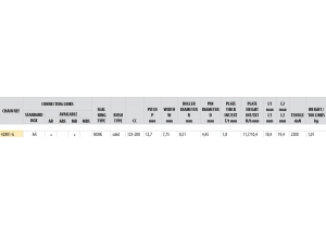Kit trasmissione Acciaio MONDIAL 125 HIPSTER 2017-2018 Rinforzata