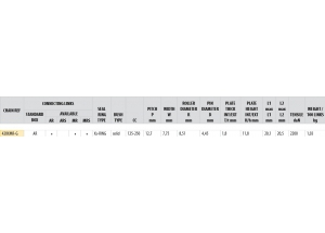 Kit trasmissione Acciaio MONDIAL 125 HIPSTER 2017-2018