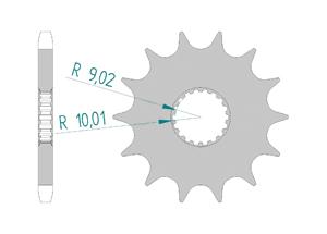 Kit trasmissione Acciaio BULLIT 125 HUNT S 2017-2018 Rinforzata Xs-ring