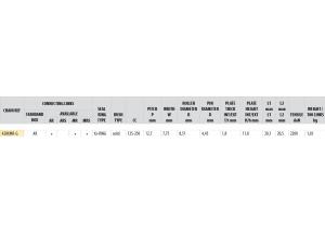 Kit trasmissione Acciaio BULLIT 125 COOPER 2014 Rinforzata Xs-ring
