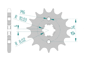 Kit trasmissione Acciaio BRIXTON BX 125 2018 Rinforzata Xs-ring