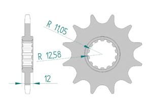 Kit trasmissione Acciaio GAS GAS EC 250 E4 2018 Super Rinforzata Xs-ring