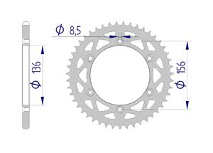 Kit trasmissione Alluminio GAS GAS EC 300 E4 2018 Standard Xs-ring