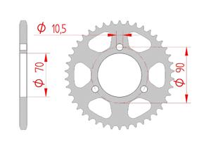 Kit trasmissione Acciaio HONDA MT 50 Standard