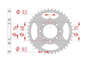 Kit trasmissione Acciaio HONDA C 70 Standard