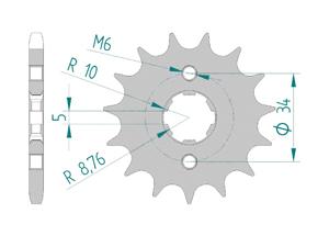 Kit trasmissione Acciaio HONDA C 90 Standard