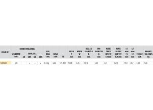Kit trasmissione Acciaio HUSABERG TE 125 2011-2013 Standard Xs-ring