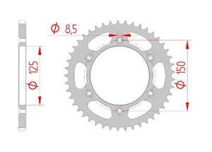 Kit trasmissione Acciaio HUSABERG FE 250 2011-2013