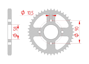 Kit trasmissione Acciaio HONDA 125 CBF 2015 Standard