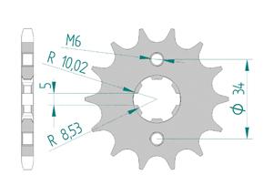 Kit trasmissione Acciaio HONDA CBR 125 R 2011-2014 Rinforzata