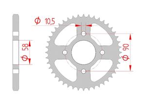 Kit trasmissione Acciaio HONDA CBR 125 R 2011-2014