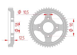 Kit trasmissione Acciaio HONDA XL 125 R ,PARIS DAKAR 84-97 Standard