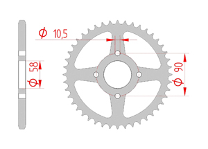 Kit trasmissione Acciaio HONDA XL 125 V VARADERO 2000-2014 Rinforzata Xs-ring
