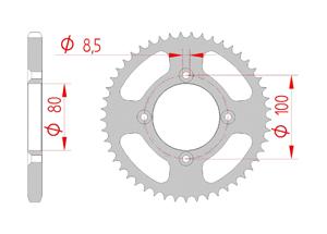 Kit trasmissione Acciaio HONDA CRF 125 E 2014 Rinforzata