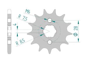 Kit trasmissione Acciaio HONDA CRF 125 2015 Rinforzata