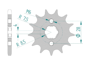 Kit trasmissione Acciaio HONDA CRF 125 2015