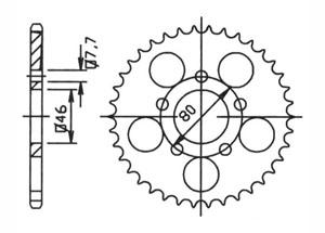 Kit trasmissione APRILIA Red Rose 50 88-91