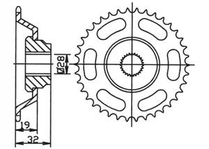 Kit trasmissione APRILIA AF1 50 /Futura /Europa 90-