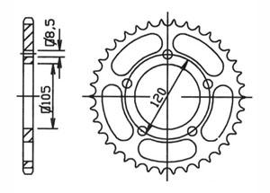 Kit trasmissione APRILIA RX50 95-98