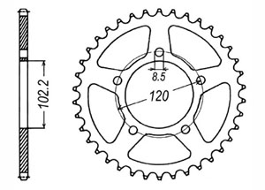 Kit trasmissione APRILIA RS50 Extrema /Replica 03-05