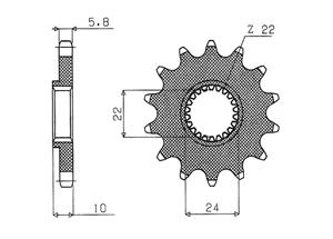 Kit trasmissione APRILIA AF1 125 Replica 88-90