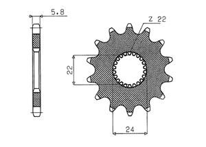 Kit trasmissione APRILIA RS125 Extrema (15 PS) 92-05