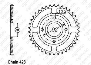 Corona Rd 125 Dx Baton 78-81