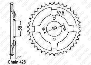 Corona Nx 125 Italie 89-98