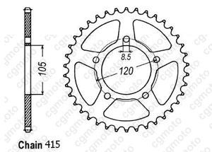 Corona Aprilia 50 Rx 93-98