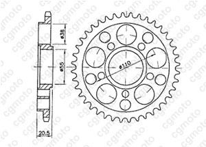 Corona Ducati 916/996 Strada