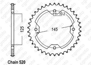 Corona Atv Yfz450 04-